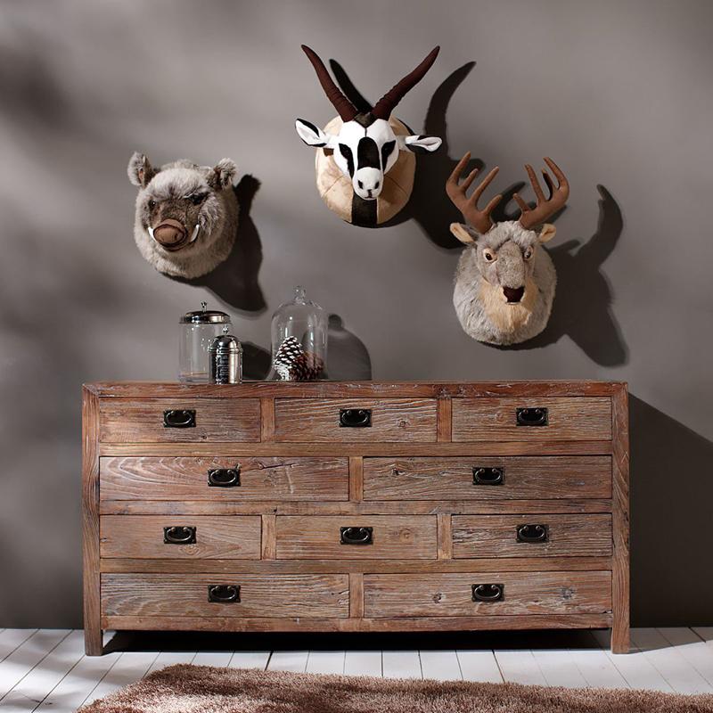 animales peluche decoración pared tipo trofeo