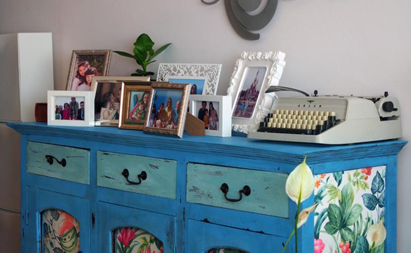 papel pintado mueble tuneado