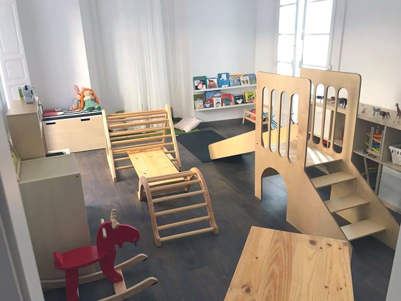 una habitación de juego para los niños