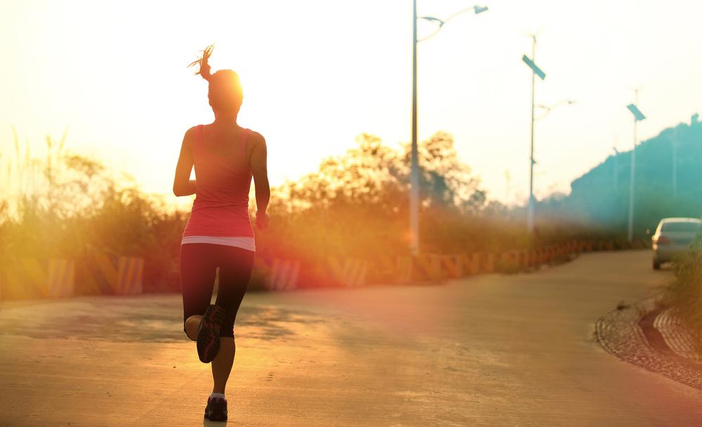 mujer corriendo. Retos