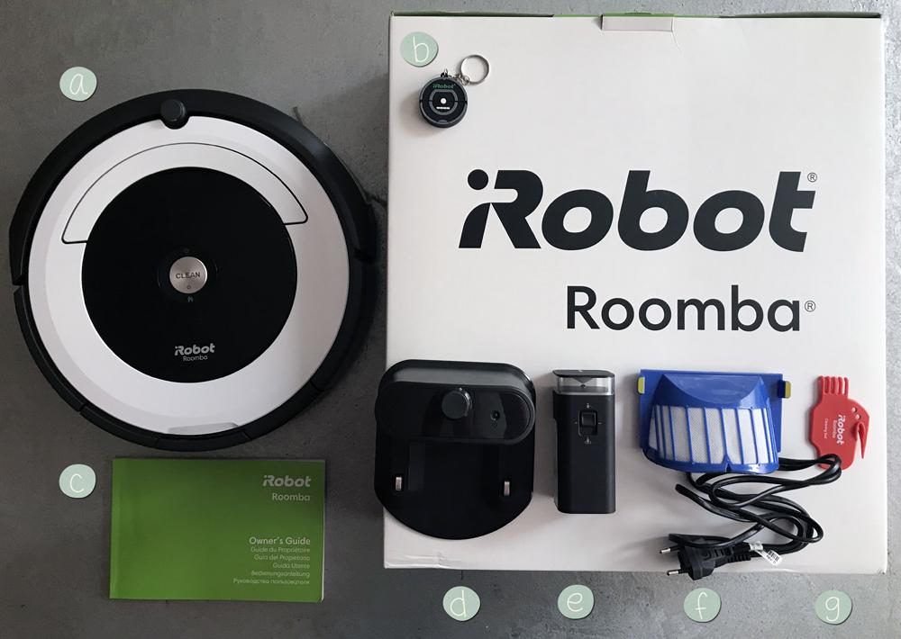 iRobot roomba 691 contenido de la caja