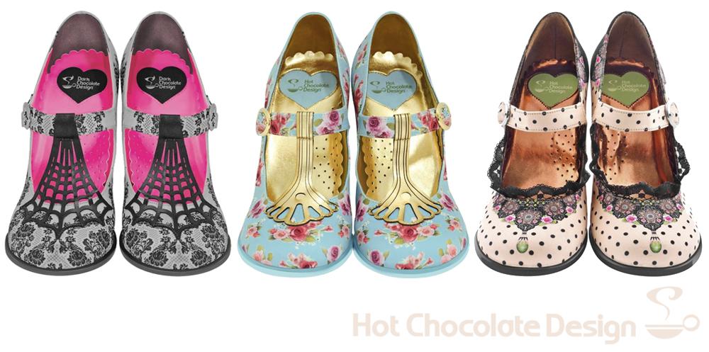 zapatos tacon chocolaticas