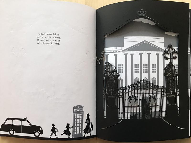 Os presentamos Mary Poppins. Up, up and away, de Hèléne Druvert, editado por Thames & Hudson. Un libro inspirado en el mundo de P.J. Travers