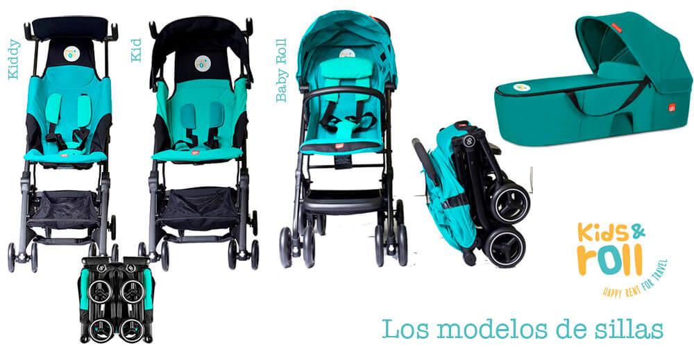 Modelos de sillas que alquilan en Kids and Roll