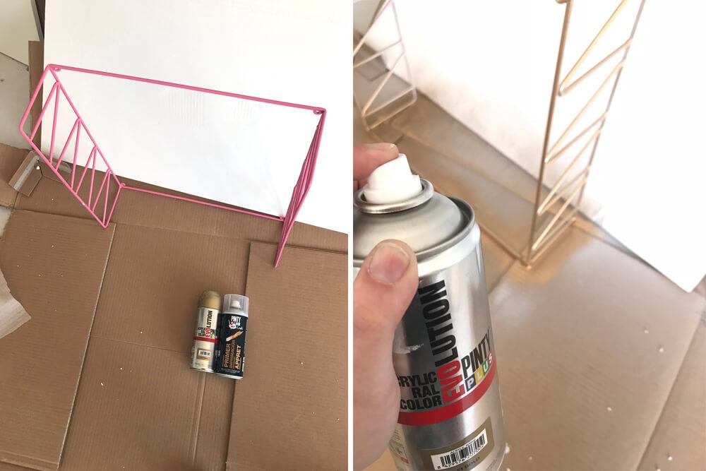 Pintar estanteria metalica