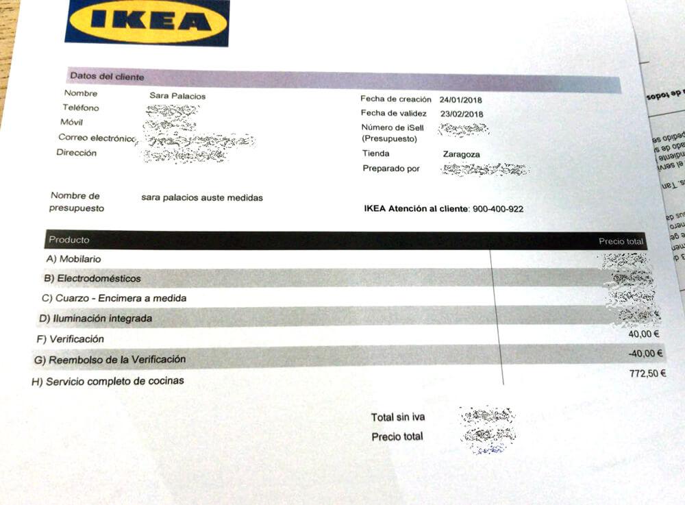 presupuesto Ikea