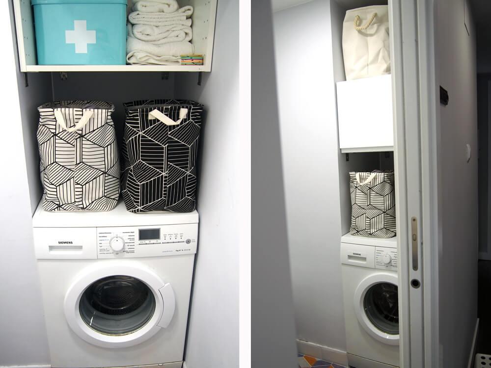 RIncon lavadora baño