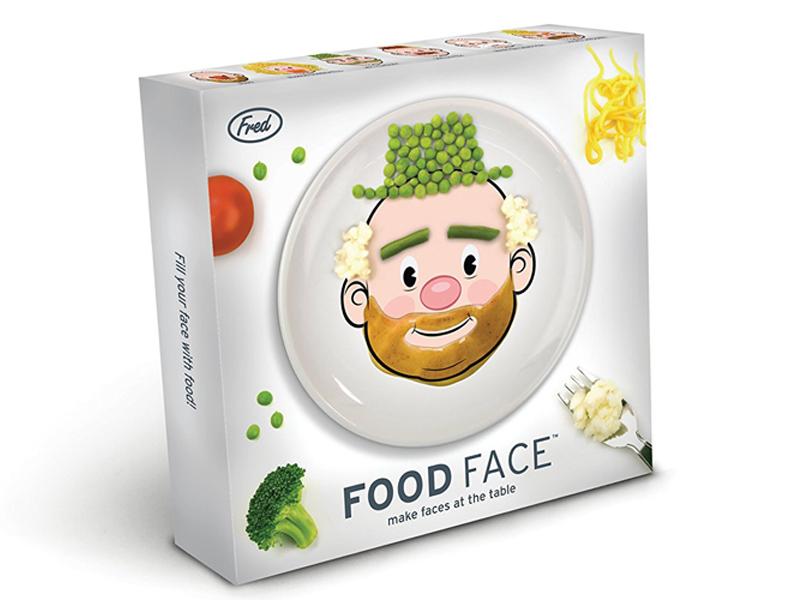 Plato cara Food face