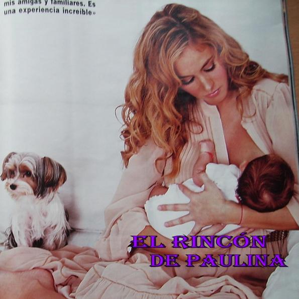 Paulina Rubio con su hijo Andrea Nicolás