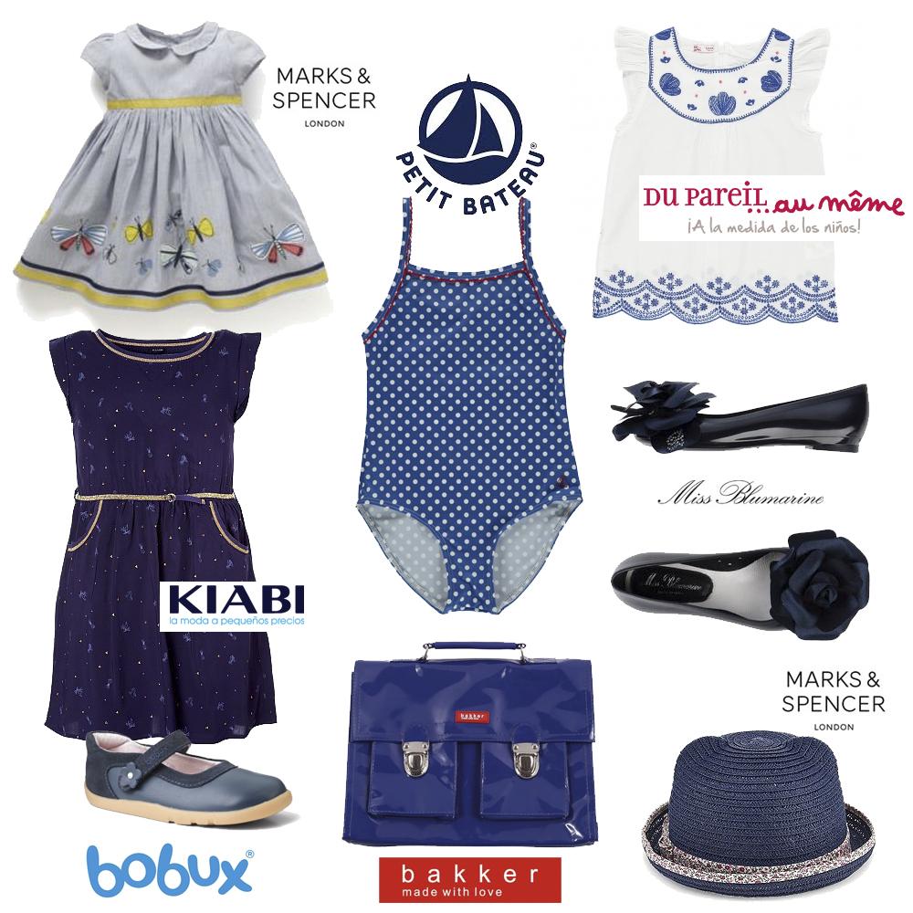 Moda infantil azul marino