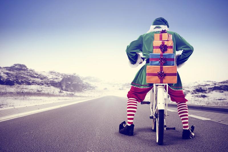 elfo en bicicleta