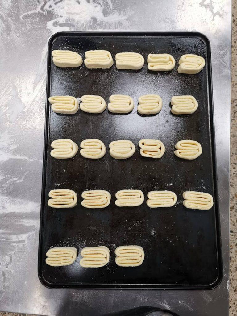 Bandeja de palmeritas sin gluten