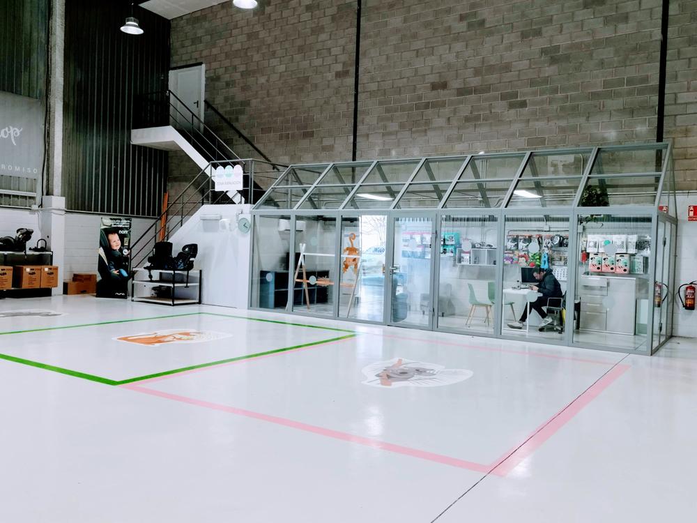 Área de instalación de sillas en Nenena