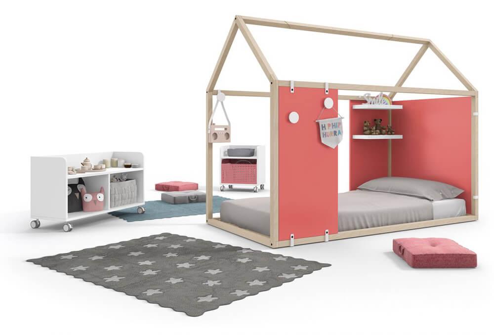Cama casita muebles Ros